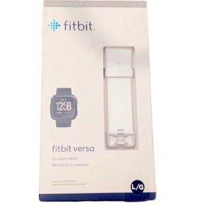 Fitbit VERSA Classic Band Bracelet White NWT